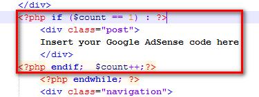 插入你想要的代码片断
